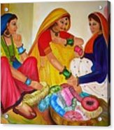 Bangle Seller Acrylic Print