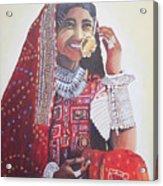 Banjaran With Traditional Attire Acrylic Print