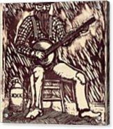 Banjo Hero Acrylic Print by Mathew Luebbert
