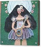 Banjo Lady Acrylic Print