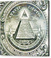Banknote Detail Acrylic Print