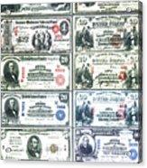 Banknotes Acrylic Print