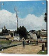 Banks Of The Oise At Pontoise Acrylic Print