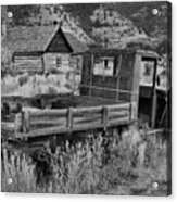 Bannack Extended Parking Black And White Acrylic Print