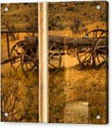 Bannack Wagon Reflections Acrylic Print