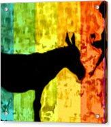 Bansky In Colors Acrylic Print
