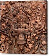 Banteay Srei Bas Relief Carvings - Cambodia Acrylic Print