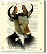 Banteng With Hummingbirds Acrylic Print