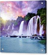 Banyue Waterfall Acrylic Print