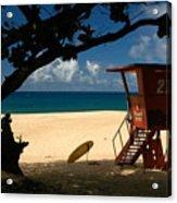 Banzai Beach Acrylic Print