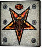 Baphomet - Satanic Pentagram - 666 Acrylic Print