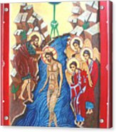 Baptism Of Christ             Theophany Acrylic Print