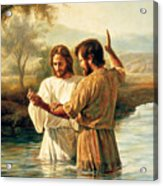 Baptism Of Christ Acrylic Print by Greg Olsen