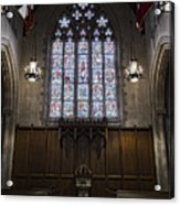 Baptismal Font - Church Of Heavenly Rest Acrylic Print