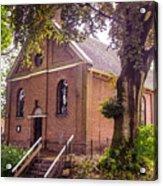 Baptist Church In Giethoorn. Netherlands Acrylic Print
