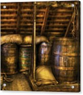 Bar - Wine Barrels Acrylic Print