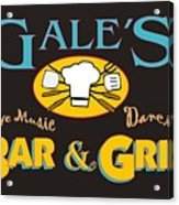 Bar And Grill Sign Acrylic Print