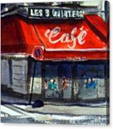Bar Les 3 Quartiers Acrylic Print