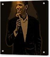 Barack Obama Acrylic Print by Helmut Rottler