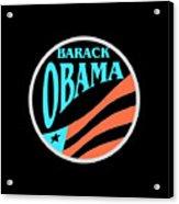 Barack Obama Design Acrylic Print
