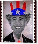 Barack Obama Postage Stamp Acrylic Print by Teodoro De La Santa