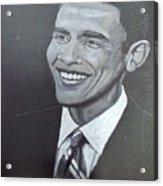 Barack Obama Acrylic Print by Richard Le Page