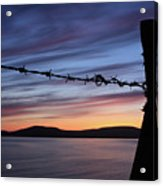 Barbed Wire Sunset Acrylic Print