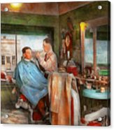 Barber - Getting A Trim 1942 - Side By Side Acrylic Print
