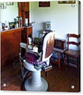 Barber - Old-fashioned Barber Chair Acrylic Print