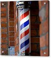 Barber Pole Acrylic Print