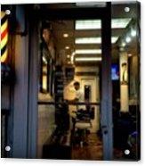Barber Shop At Closing Time Acrylic Print