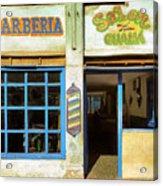 Barber Shop Acrylic Print