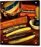 Barber - Vintage Barber Acrylic Print