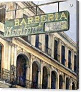 Barberia Konfort Acrylic Print