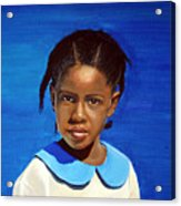 Barbuda School Girl Acrylic Print