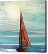 Barca Al Chiar Di Luna Acrylic Print