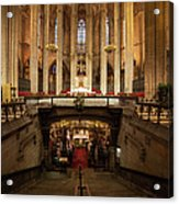 Barcelona Cathedral High Altar And St Eulalia Crypt Acrylic Print