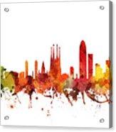 Barcelona Cityscape 04 Acrylic Print