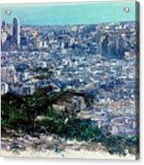 Barcelona Desde El Tibidabo Acrylic Print