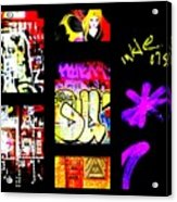 Barcelona Graffiti  Acrylic Print by Funkpix Photo Hunter