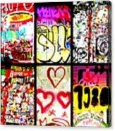Barcelona Graffiti Wall  Acrylic Print