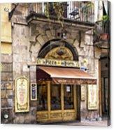 Barcelona Pizzeria Acrylic Print