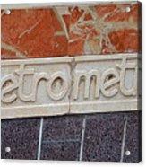 Barcelona Spain Metro Sign Acrylic Print