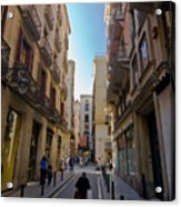Barcelona Street Scene Acrylic Print