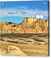 Bardenas Desert Panorama 3 Acrylic Print