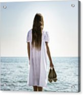 Barefoot At The Sea Acrylic Print