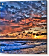 Barefoot Beach Sunset Acrylic Print