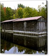 Barge House On The Erie Canal Acrylic Print
