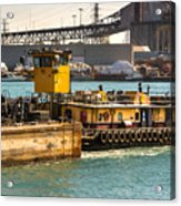 Barge Movement With The Morgan Acrylic Print