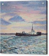 Barge On Port Phillip Bay Acrylic Print